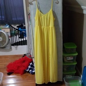 Yellow spaghetti strap dress